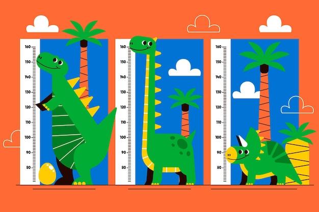 Набор метров высоты плоский дизайн