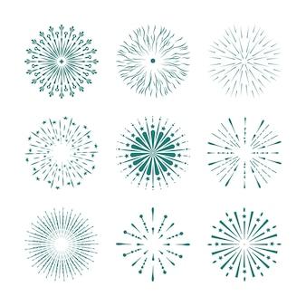 Набор плоской коллекции фейерверков