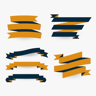 Set of flat premium ribbons
