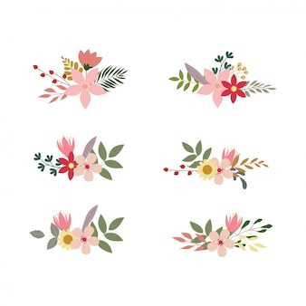 Набор цветочных букетов