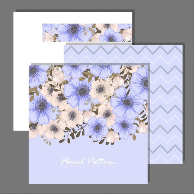 Набор цветочная рамка с красочным цветком.