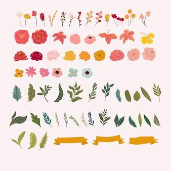 꽃 그림의 집합