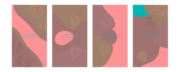 ブルーゴールドパステルカラーの花の普遍的な芸術的なテンプレートのセット。グリーティングカード、招待状、チラシ、その他のグラフィックデザインに適しています。正方形の花のグリーティングカード