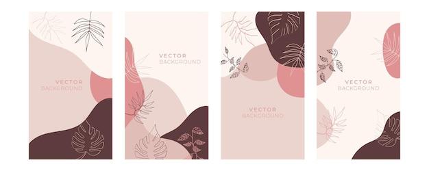 블루 골드 파스텔 색상으로 꽃 보편적인 예술 템플릿 세트. 인사말 카드, 초대장, 전단지 및 기타 그래픽 디자인에 좋습니다. 광장 꽃 인사말 카드
