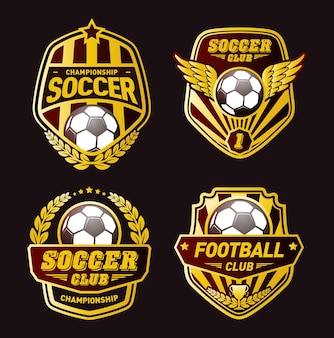 Set of Football Logo Design Templates