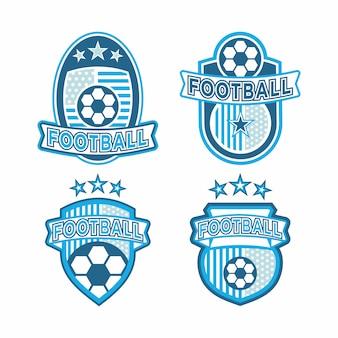 Набор футбольного логотипа