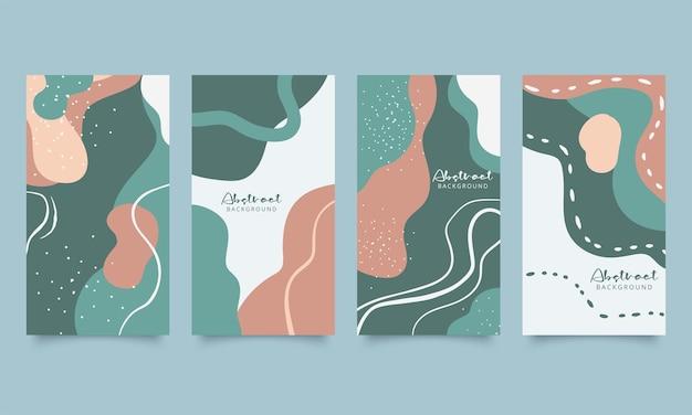 Набор из четырех абстрактных современных векторных фонов
