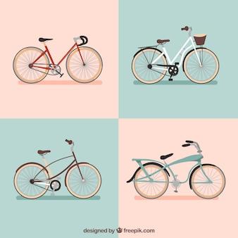 4つの美しい自転車のセット