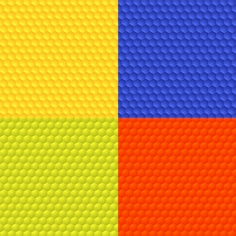 4色の抽象的なシームレスな背景のセット。