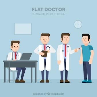 4人のドクターキャラクターのセット