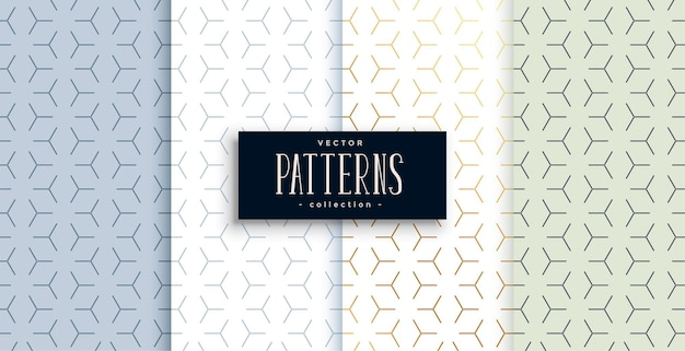 4 개의 미니멀 기하학적 패턴 디자인 세트