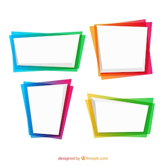 Set of frames in gradient colors