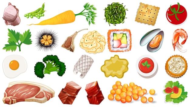 Набор свежих пищевых ингредиентов