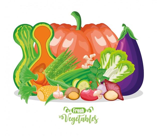 新鮮な果物と野菜のセット