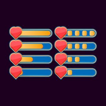Набор забавных случайных индикаторов состояния здоровья для элементов пользовательского интерфейса игры