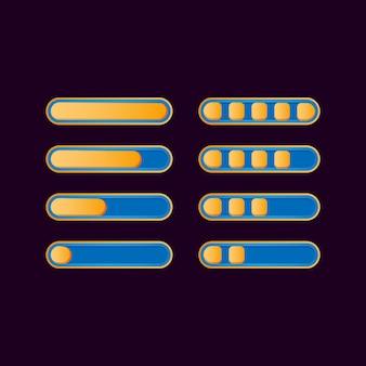 Набор забавных случайных индикаторов прогресса для элементов игрового пользовательского интерфейса
