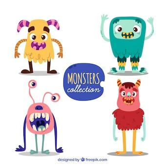 Набор смешных персонажей монстров