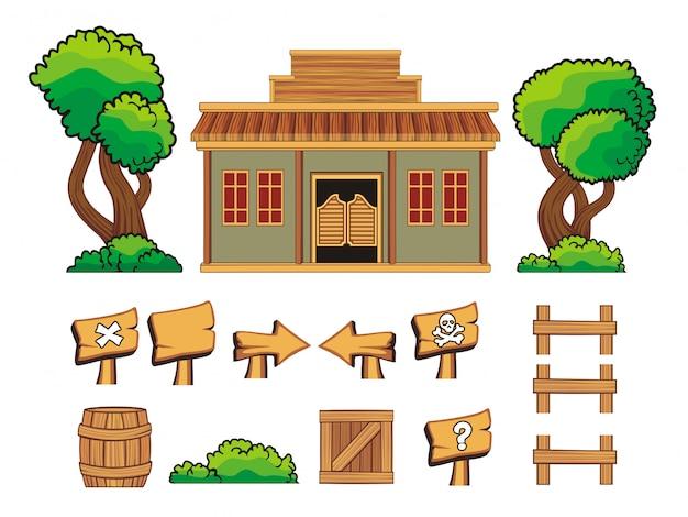 게임 자산 및 소품 세트
