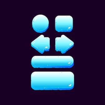 ゲームuiアイスウィンターボタンキットのセット
