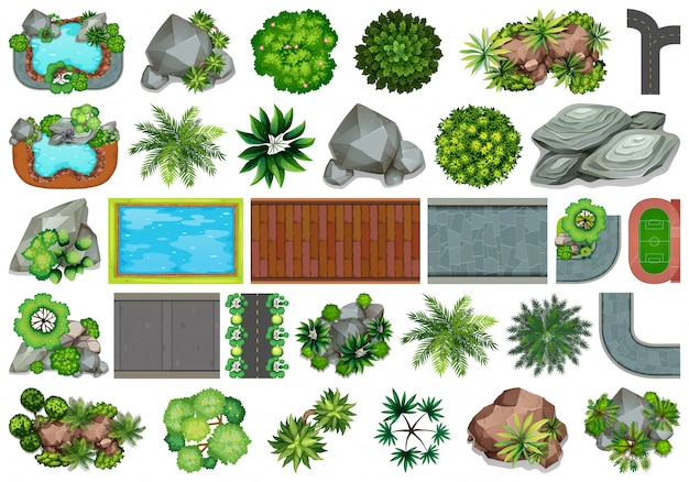 装飾用の庭のセット