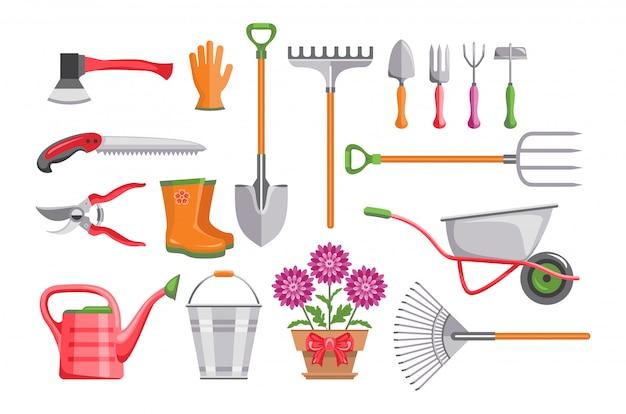 Набор садовых инструментов.