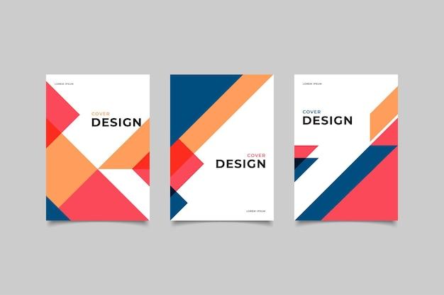 Набор геометрических абстрактных обложек коллекции