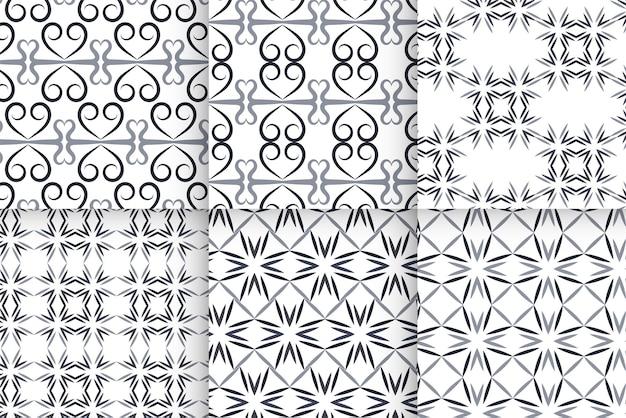 기하학적 밝은 회색 줄무늬 완벽 한 패턴의 집합