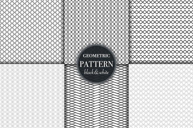 幾何学的な線パターン背景のセット