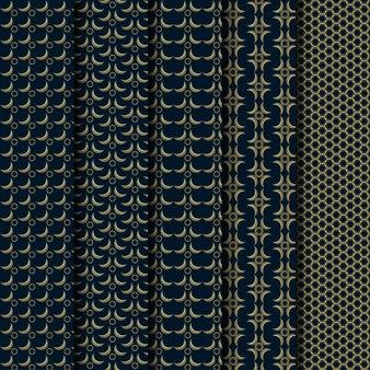 幾何学的な豪華な古典的なパターンのセット