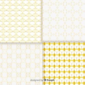 幾何学的な高級パターンコンセプトのセット