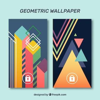 Набор геометрических обоев мобильных телефонов