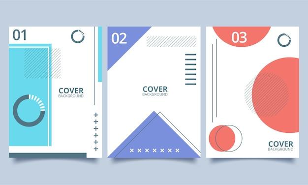 幾何学ポスターデザインのセット