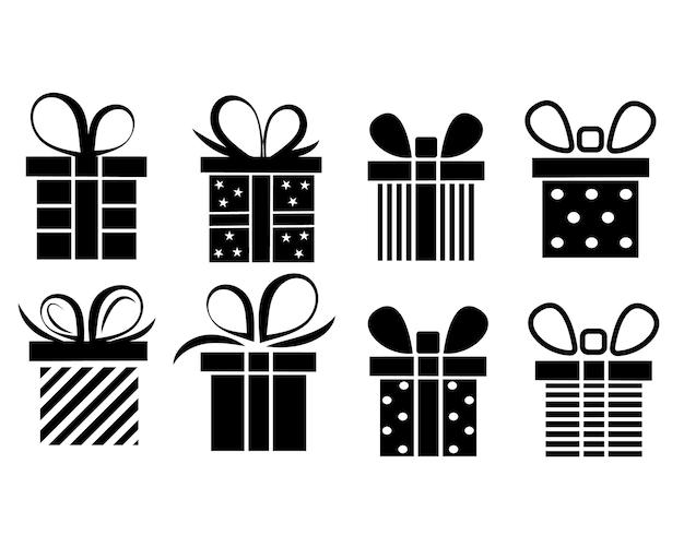 Набор подарочной коробки. векторная иллюстрация