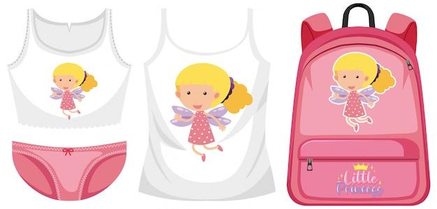 女の子の衣装のセット