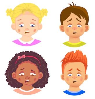 Набор символов девочек и мальчиков
