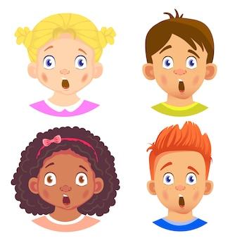 女の子と男の子のキャラクターのセット