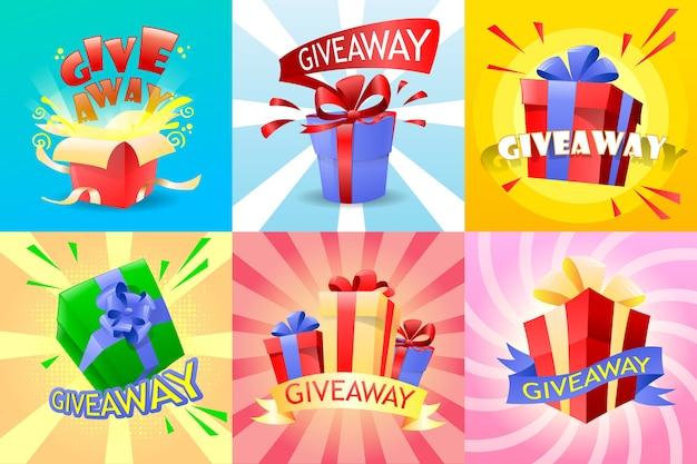 Набор giveaway с подарками и бантом