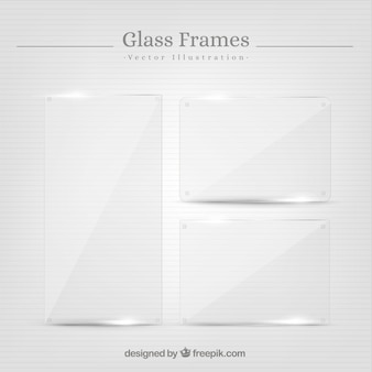 Set of glass frames in realistic style