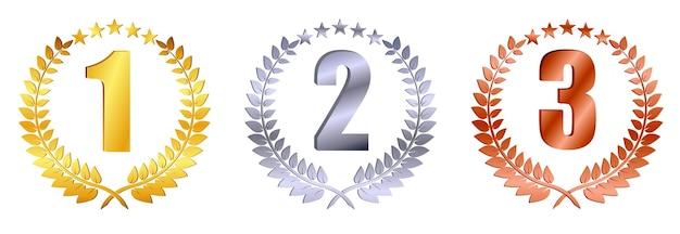 Набор векторной награды стеклянный трофей на градиентном сером фоне eps вектор