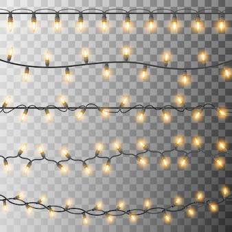 Набор светящихся новогодних лампочек
