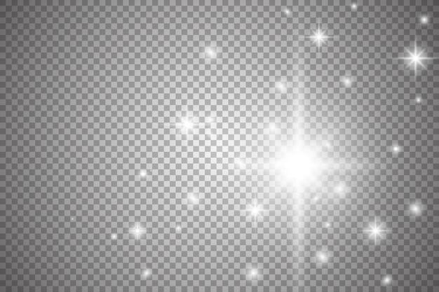 輝く光の効果のセット Premiumベクター