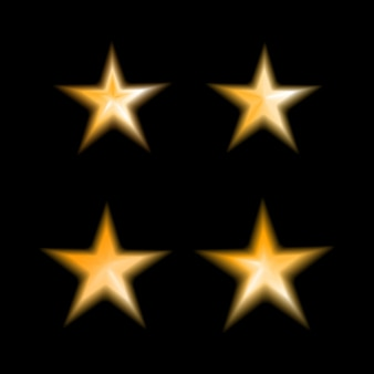 金のぼやけた星のセット