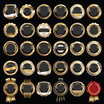 Набор печатей и значков золотого сертификата