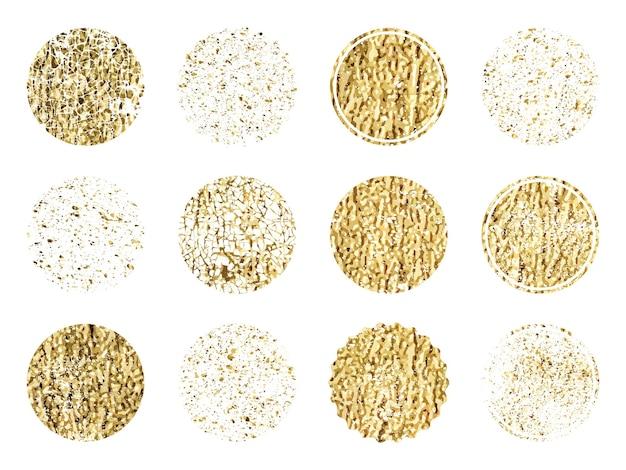 Набор золотого круга. роскошная золотая винтажная граница.