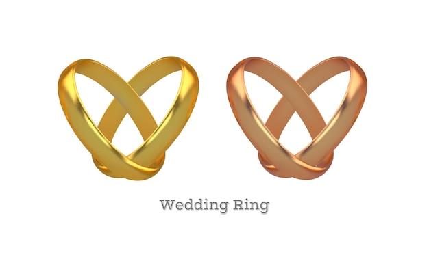 ゴールドの婚約指輪のセット