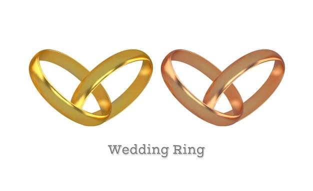 금 약혼 반지 세트