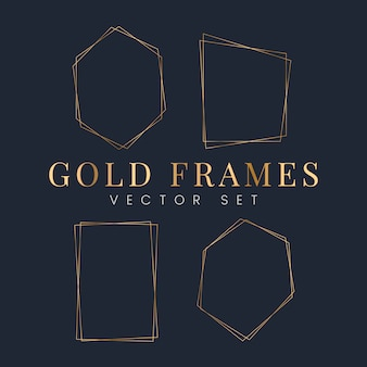 Set of gold frame vectors