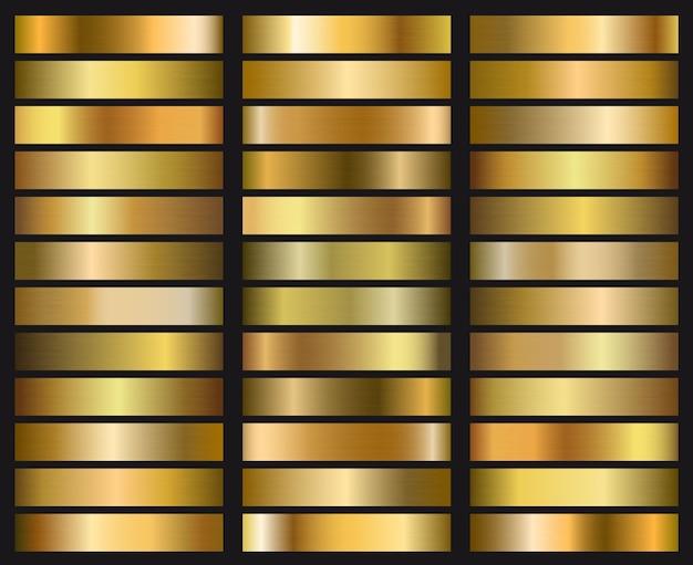 ゴールドグラデーションテクスチャのセットです。