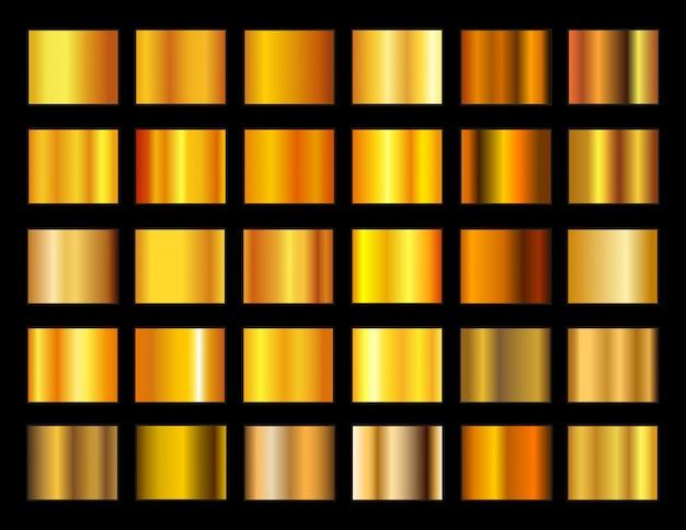 ゴールドグラデーションのセット