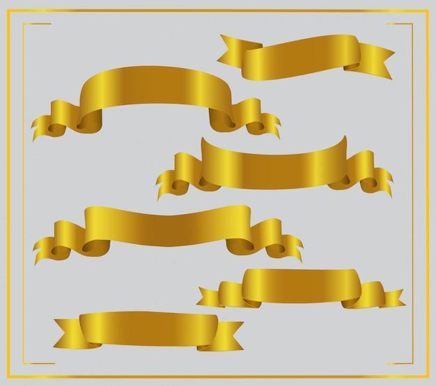 Набор золотых лент.